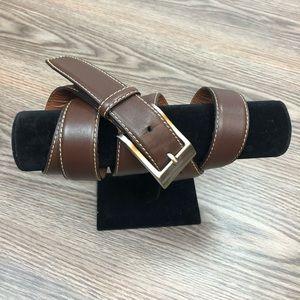 Johnston & Murphy Brown Leather Belt 44